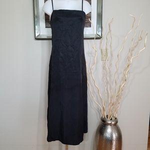 Zara black chambray slip dress Size L